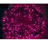 Гирлянда на деревья Клип лайт (LED) с трансформатором розовая