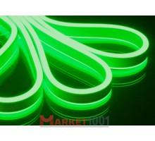 Неон флекс светодиодный гибкий зеленый двухсторонний