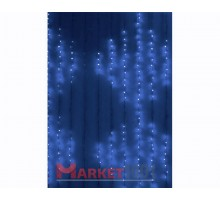 Гирлянда световой светодиодный занавес «Водопад» 2x3 м. С 3-х канальным контроллером синий. (Плей лайт)