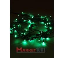 Гирлянда светодиодная Твинкл лайт 10 метров с контроллером зеленая (кабель ПВХ)