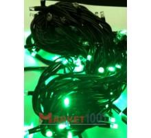 Гирлянда светодиодная Твинкл лайт 10 метров с контроллером зеленая (резиновый кабель)