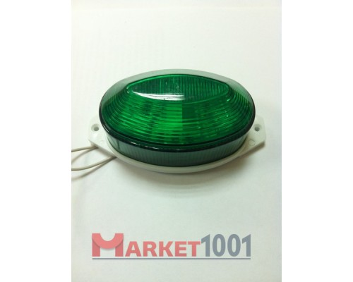 Строб лампа накладная ксеноновая зеленая