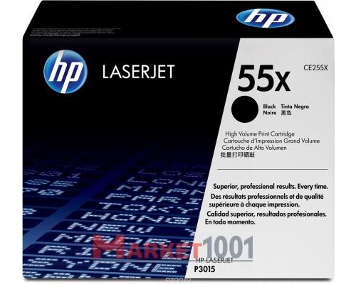 HP CE255X (55X) тонер-картридж черный