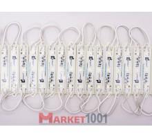 Светодиодный модуль SAMSUNG 3SMD 5630 чистый белый 78x36x4.2 мм.