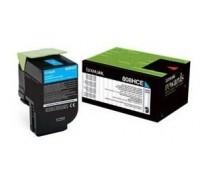 LEXMARK 80C8HC0 (808HC) тонер картридж голубой