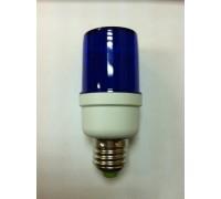 Строб лампа цокольная E27 ксеноновая синяя