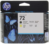 HP C9384A (72) печатающая головка матово-черная и желтая