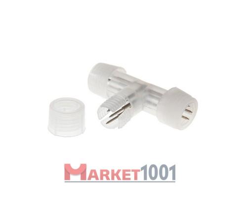 T-образный коннектор для 3W круглого дюралайта 13 мм.