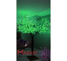 Светодиодное дерево Сакура 3,6x3 м. Зеленый