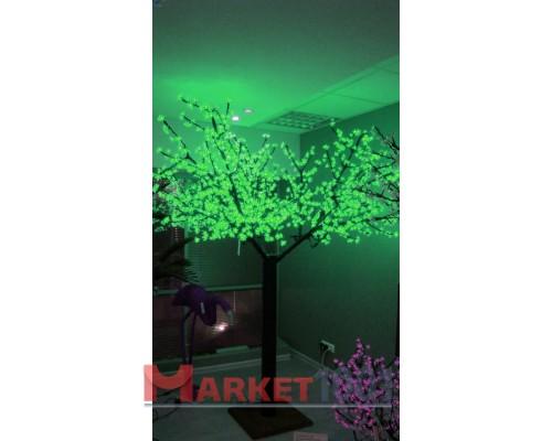Светодиодное дерево Сакура 2,5x2 м. Зеленый