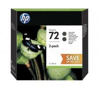 HP P2V33A (72) картридж матово-черный (двойная упаковка картриджей C9403A)