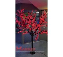 Светодиодное дерево Сакура 1,9x1,5 м. 24V красный