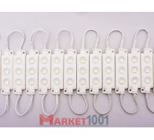 Светодиодный модуль DKB 3SMD 5050 холодный белый 68,2x19,5x5,7 мм.
